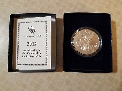 2012 W American Eagle Uncirculated One Ounce US Mint Silver Coin