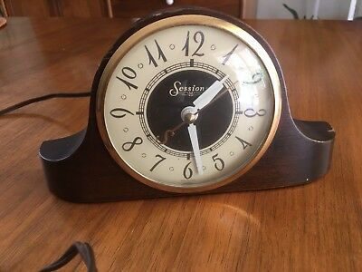 ART DECO SESSIONS ELECTRIC MANTLE-DESK CLOCK MODEL 2.5 Volt Vintage
