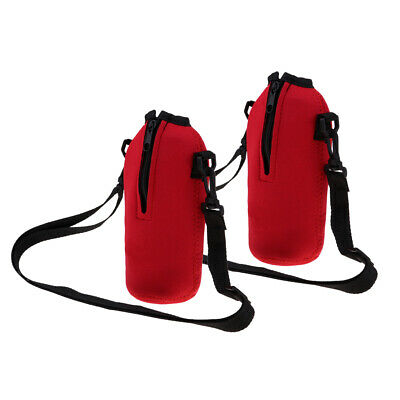 2pcs 750ml Sports Water Bottle Cover Holder Bag Neoprene Carry Pouch Case