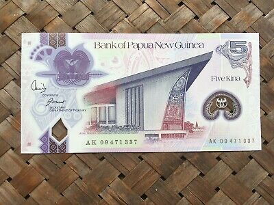Bank of Papua New Guinea 5 Kina Note! unc