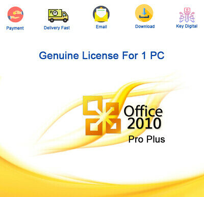 Office Professional Plus 2010 Activation For 1 PC Genuine License