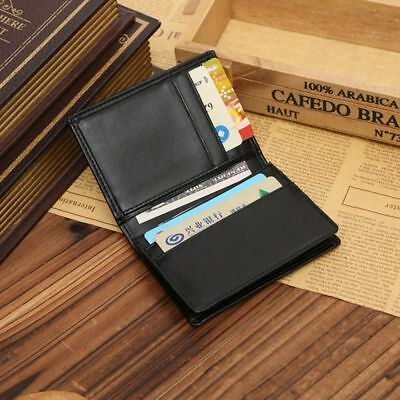 1pc  Men's Genuine Leather Wallet Credit Card Holder Mini Purse Money Clip