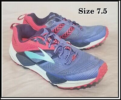 d0a9c9e1ca3 Brooks Cascadia 12 Size 7.5 Baja Blue Trail Running Shoes Women s Pink  Purple
