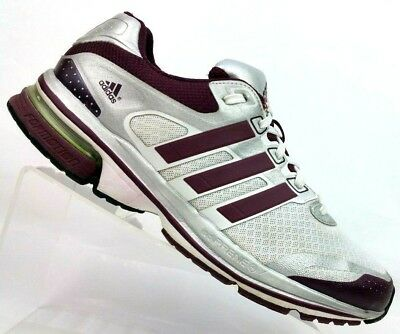 767e06933d9fe Adidas Supernova Glide White Maroon Running Athletic Sneakers Shoes Men s  7.5