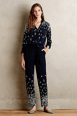 6f6cc1c28fb4 NEW ANTHROPOLOGIE EMBROIDERED Allete Jumpsuit by Lilka Size SZ S ...