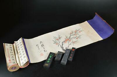 S1115: Chinese Ink Paper SCROLL, rolled sheet Calligraphy tool.