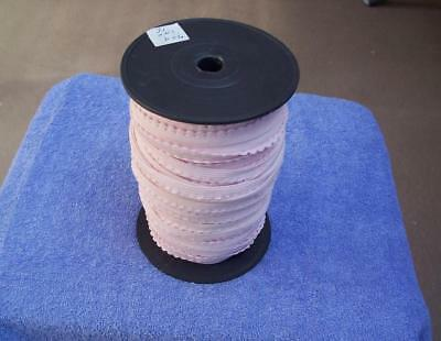 Bulk Roll PINK PICOT EDGED ELASTIC -10 mm wide -  Estate Item #EBayMarket