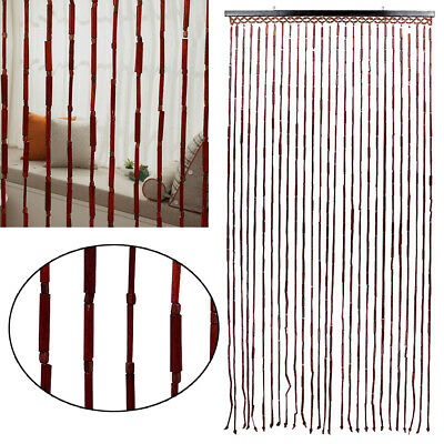 Bamboo Beaded Door Glamorous Blinds Fly Screen Insects Wooden Curtains Decor UK