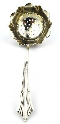 Antique Victorian Sterling Silver Sifter Spoon Albany Pattern Birmingham 1899