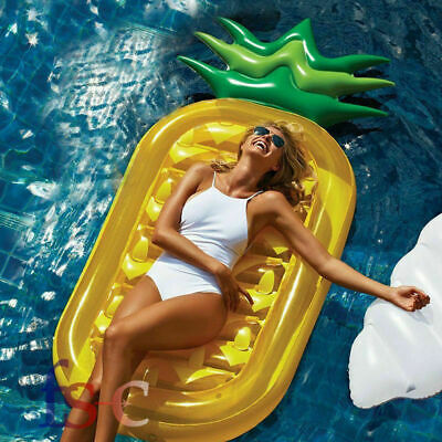 Inflatable Swim Pool Floats Raft Swimming Water Sports Beach Pineapple Shape Toy