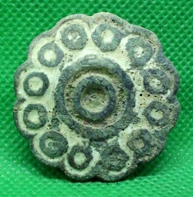 Huge Ancient Celtic Druids Solar Amulet Mount With Traces Of Glass Paste  100 Bc