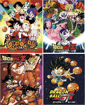 Anime DVD Dragon Ball + Dragon Z + Dragon GT Collection ENGLISH AUDIO Box Set