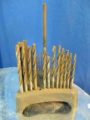 Vintage Cleveland Twist Drill Co.   Drill Stand No. 60  M-M Sizes + 53 Drills