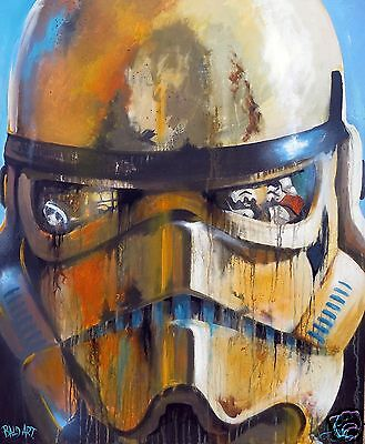 star wars stormtrooper  ART CANVAS PRINT abstract painting poster