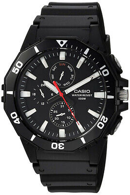 Casio Men's Quartz Chronograph 100m Black Resin Watch MRW400H-1AV