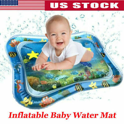 Inflatable Baby Water Mat Fun Activity Play Center for Children & Infants Kid US