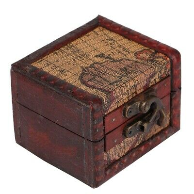 Large Decorative Trinket Jewelry Lock Chest Vintage Wooden Storage Box Lady Gift