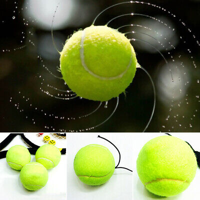 """Elastic Tennis Ball 2.56"""" Green Resilience Exercise Cord Rebound Outdoor Sport"""