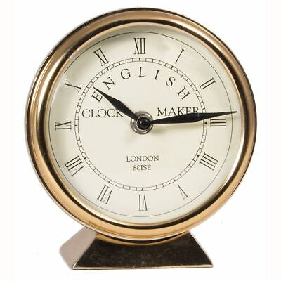 Antique Brass Round Table Clock Pacific