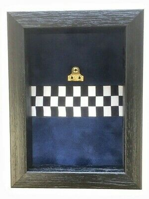 Small Police Medal Display Case For 1 Medal. Black Frame