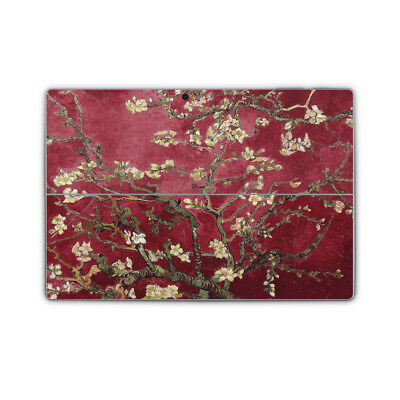 Red Almond Blossoms Van Gogh Vinyl Skin Sticker Wrap to Cover Surface Pro Back