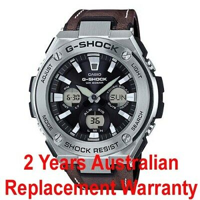 Casio G-Shock G-Steel Solar Watch Gst-S130L-1A Brown Leather Band Gsts130L-1Adr