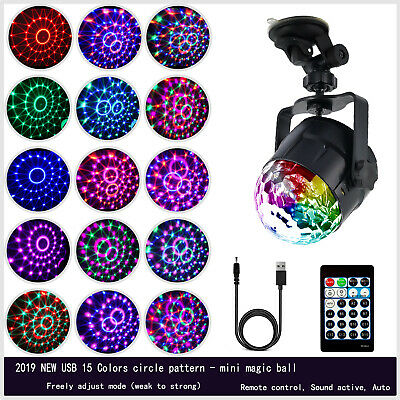 Disco Party DJ 18Colors LED RGB Stage Effect Light Lamp Laser Crystal Magic Ball