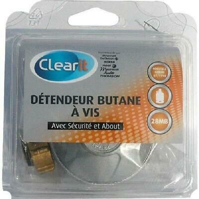 Detendeur pour gaz butane a vis 28 MB avec securite + about - Clear It