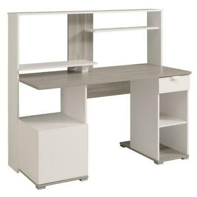 L 136 FONTANA Bureau dangle contemporain blanc artik 203.5 cm