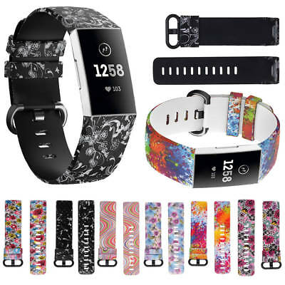 New For Fitbit Charge 3 Watch Band Replacement Silicone Bracelet Wrist Strap S/L