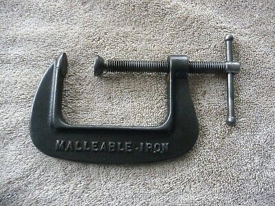 Vintage MALLEABLE C Clamp UNBREAKABLE 3 Inch USA