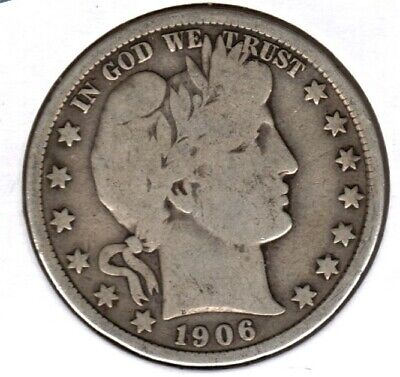1906-D Barber Half Dollar Grades  Very Good Buy It Now #c1059