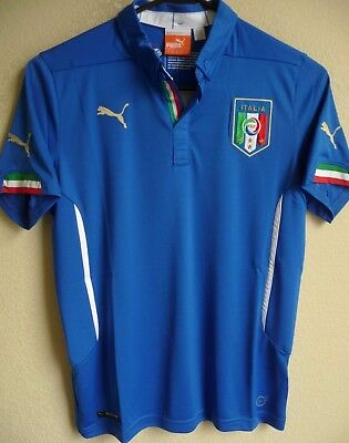 d8382b71c Youth PUMA Italy National Team Football Home Replica Soccer Jersey YL NWT  744294