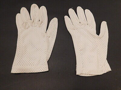*Designer Ladies Cream  Stretch Nylon Gloves Unlined Size 6.5
