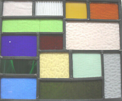 stained glass panel measuring 30 x 25 cms