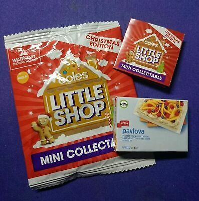 COLES LITTLE SHOP Mini COLLECTABLE CHRISTMAS EDITION - YOU CHOOSE. FREE POST.