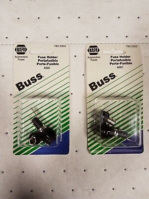 Lot of (2) NAPA BUSS 250V-20A Panel Mount Fuse Holder_782-3303