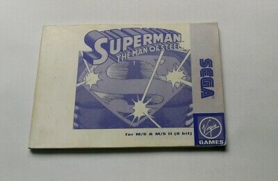 Instruction Manual Superman The Man Of Steel Master System Ms Instrucciones Pal