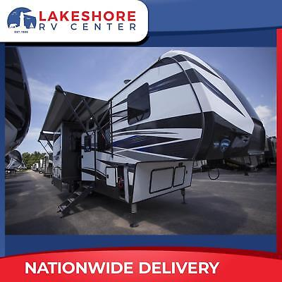 RV NEW Fifth Wheel Toy Hauler Fuzion 357 12FT Garage Camper Trailer RV Loaded