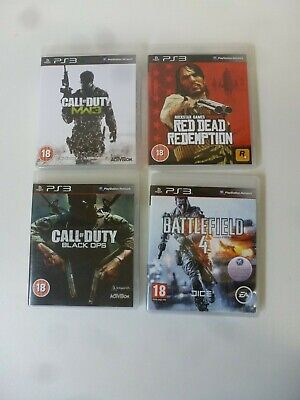 Job Lot PS3 Playstation Games 4 Game Bundle Certificate 18