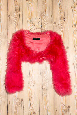 f43d5eea1b3 GUCCI Marabou Hot Pink SIZE 40 IT SS 2003 Cropped Feather Jacket Fur Tom  Ford