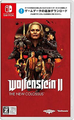 NEW Nintendo Switch Wolfenstein II The New Colossus JAPAN import Japanese game