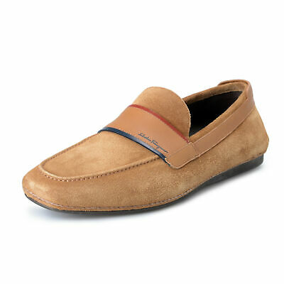 b259f0c0f66 Salvatore Ferragamo Men s FLORIDA Suede Leather Loafers Shoes US 7.5EE IT  40.5EE