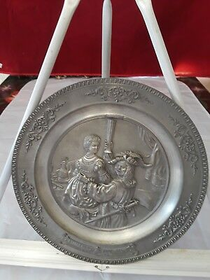 Gesch Pewter Plate Rembrandt Wall Decor 10 Inches