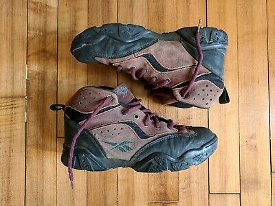 fbc3531f393a4 NICE! VINTAGE 90S Reebok Women's 7 Brown Leather Suede Retro Hiking Boots  Shoes