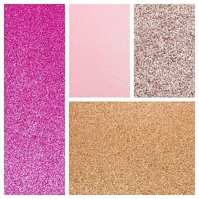 Various Pinks A4 Fixed Glitter Cardstock 220gsm Ultra Low Shed Card Art Craft