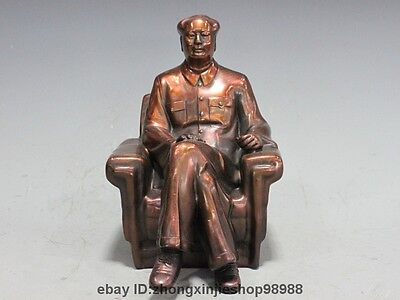 Chinese Bronze Copper Great leader Chairman Mao Zedong Mao Chairman Statue
