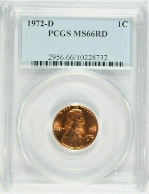 1972-D Lincoln Cent PCGS MS-66 Red  #GA9-32