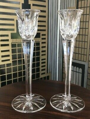 """Marquis by Waterford Heritage Set of 2 (8"""") Footed Crystalline Candlesticks"""