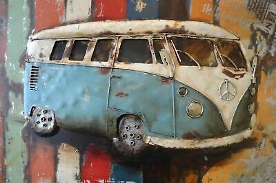 CLASSIC VW CAMPERVAN CANVAS WALL ART DECO LARGE READY TO HANG all sizes.